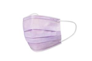 日本製不織布カラーマスク「極」京藤色(紫/パープル)