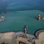 OKシルトフェンス:復旧工事時の汚濁水拡散防止に(海洋)